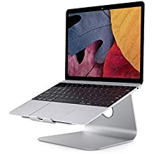 Laptop stand, soporte ergonómico de aluminio para laptop / notebook / macbook air / macbook pro - plata