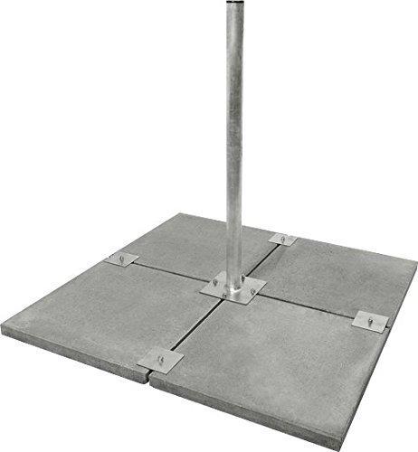 Stabilo Universal 4 Platten Balkon Ständer, feuerverzinkt für bis zu 90 cm Spiegel Mast-montage-plattform
