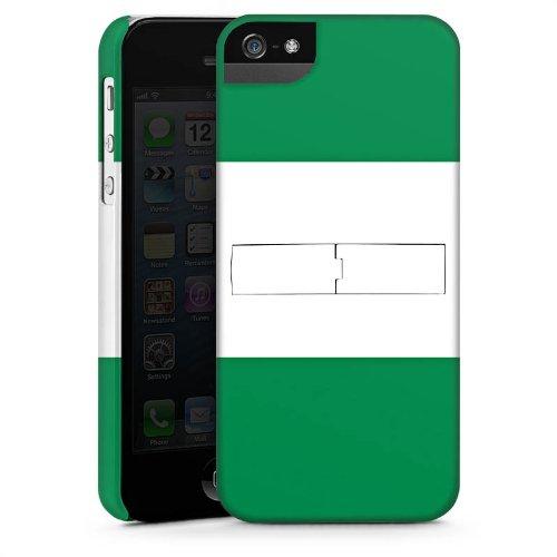 Apple iPhone 5s Housse Étui Protection Coque Nigéria Drapeau Ballon de football CasStandup blanc