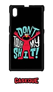 Caseque Don't Touch My Shit Back Shell Case Cover for Sony Xperia Z1