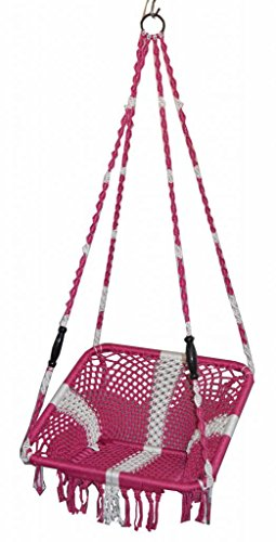 kaushalendra hammock swing chair for adults nylon hanging rope swing  available at amazon for Rs.1999