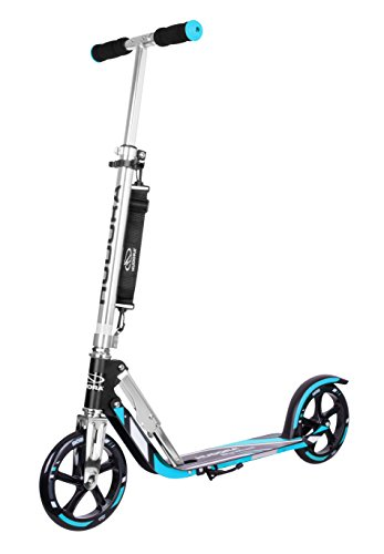 HUDORA Big Wheel Scooter 205 - Das Original, Tret-Roller klappbar - City-Scooter - 14709, blau/schwarz