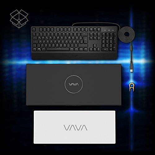 Mechanische Tastatur VAVA Gaming Tastatur 16.8 Millionen RGB Farben, Blaue Switsches, 100% Anti-Ghosting, 104 Tasten Robuste UV-Beschichtung, Ergonomisches Design, Deutsches Layout QWERTZ - 8