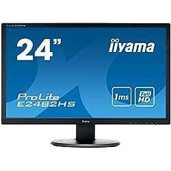 "Iiyama E2482HS-B1 Ecran PC LCD 24"" 1920 x 1080 Pixels 1 ms Noir"
