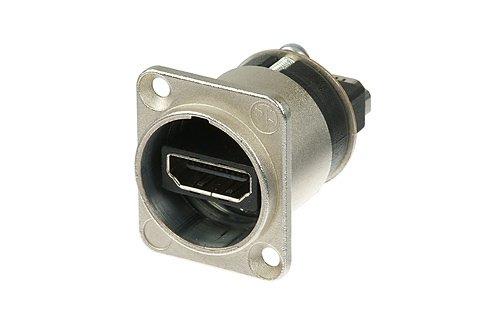Neutrik NAHDMI-W HDMI 1.3 Durchführung im D-Form Gehäuse (1.3 High-definition-kabel)