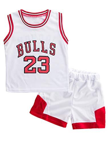 ARAUS Baby Kleidung Set Shirt Ärmlos + Shorts Junge Basketball Anzug 1-7 Jahre alt