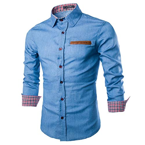 Noradtjcca Lässige modische Stil männer Herbst Langarm Umlegekragen Denim Shirts modische Baumwolle Stil männlichen Jeans Hemd Tops