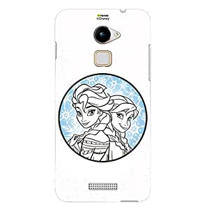 Hamee Disney Princess Frozen Official Licensed Designer Cover Hard Back Case for Coolpad Note 3 Lite / Cool Pad Note Three Lite (Elsa Anna / Circle)