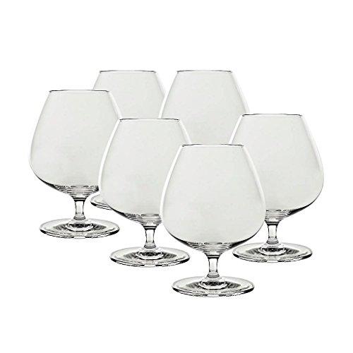 6 x Cognacschwenker, Cognacglas, Schwenker CONDOR 500ml, transparent, Bleikristall Glas, moderner Style (GERMAN CRYSTAL powered by CRISTALICA)