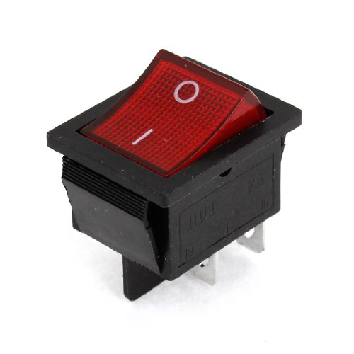 Price comparison product image Car I/O Red Neno Light 4 Pin DPST Rocker Switch AC 16A/250V 20A/125V