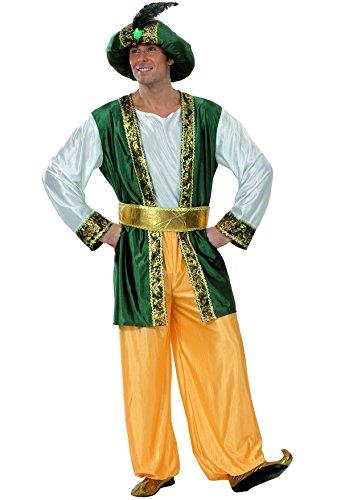Fiori Paolo 25880–Sultano, talla XL, verde/oro/blanco