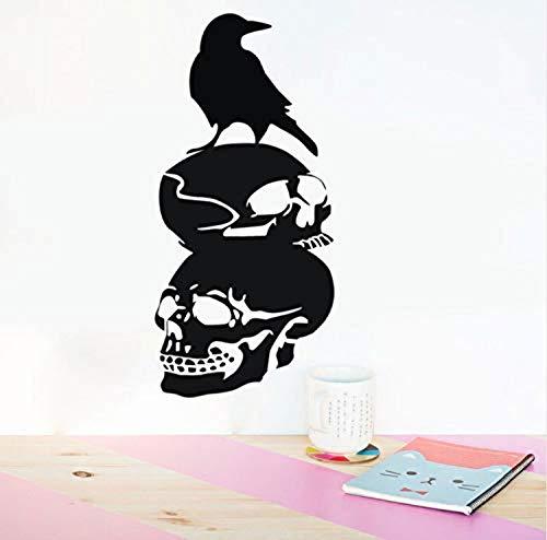 Wand-Aufkleberwasserdichte Halloween Crow Hintergrund Festival Fenster Home Decoration Aufkleber Dekor Wandbild Tapete