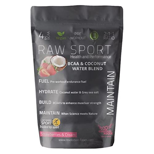 Revolution Foods Raw Sport Maintain Vegan BCAA and Coconut Water Blend, 240 g