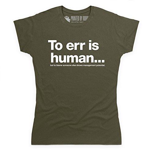 Management Potential T-Shirt, Damen Olivgrn