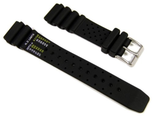 Citizen Marken Ersatzband Uhrenarmband Kautschuk für Promaster Diver AY5000-05L Dekompressionstabelle 20 mm