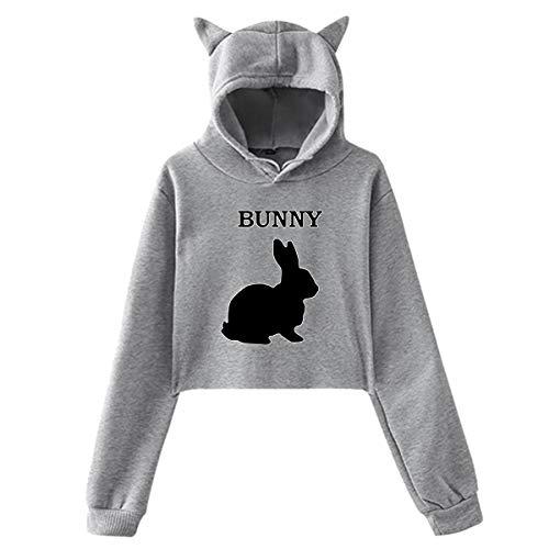 Bunny Rabbit, Sommer Herbst Winter Fleece Damen Sportswear CAT Ear Cartoon Hoodie Kawaii K-Pop Bekleidung Streetwear Hoodies Sweatshirt -