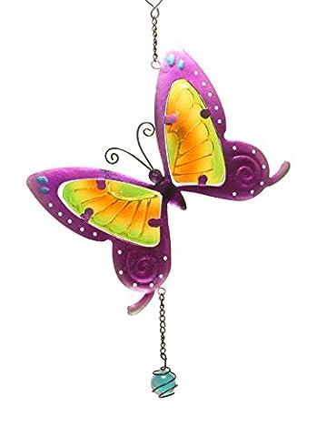 Fensterbild Wandbild Windspiel Suncatcher Schmetterling lila Fensterbilder von GlasXpert