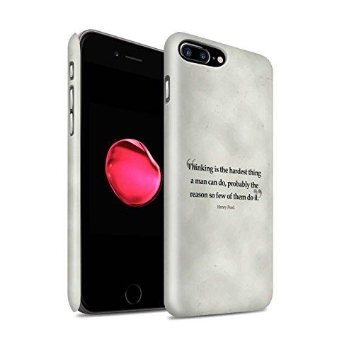STUFF4 Matte Snap-On Hülle / Case für Apple iPhone 8 Plus / Stephen Hawking Muster / Berühmte Zitate Kollektion Henry Ford