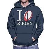 Coto7 I Love Rugby Six Nations Logo England Men's Hooded Sweatshirt