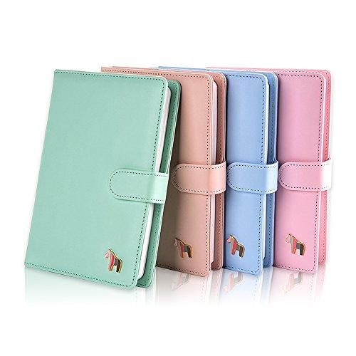 Zhi Jin Macaron Farbe Notizbuch Tagebuch Horse Pattern Notizblock Tagebuch mit Druckknopfverschluss...