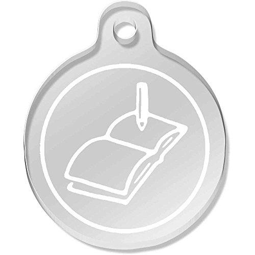 Azeeda 'Pencil & Book' Shaped Engraved Keyring (AK00051991)
