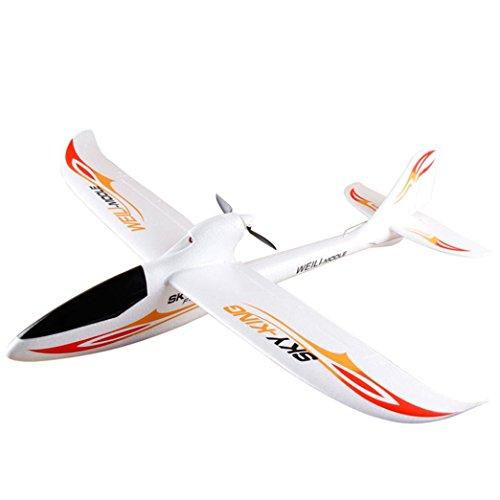 GJKK WLtoys F959 Sky King 2.4G 3CH Weiß RC Drone Segelflugzeug RTF Radio Control Drone Ferngesteuerte Flugzeuge Spielzeug Modellbau Flieger Tragbare Drohne Draussen Drohne Höhenhaltung (Weiß) (Modell-flugzeuge Radio Control)