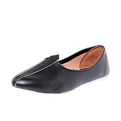 Foot 'N' Style Black Men's Punjabi Jutti 11 UK