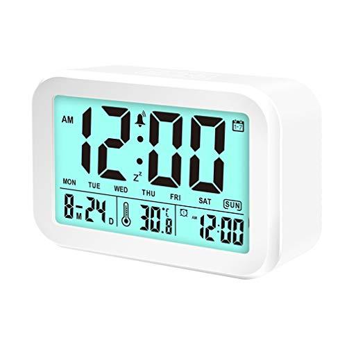VGROUND Reloj de Alarma Digital Reloj Despertador Digital Inteligente Smart Talking LED Reloj de Alarma con Pantalla de 4.5