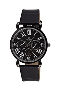 Black Slim Dial Analog Wrist Watch for Men With Free Extra Battery & Box (Black)