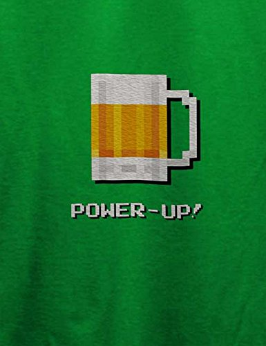 Bierglas Power Up T-Shirt Grün