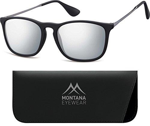 Montana MS34-Occhiali da sole Unisex - Adulto    Multicoloured (Black/Revo Silver Mirror) 1