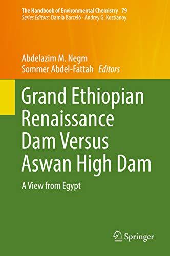 Grand Ethiopian Renaissance Dam Versus Aswan High Dam: A View From Egypt (the Handbook Of Environmental Chemistry 79) por Abdelazim M. Negm