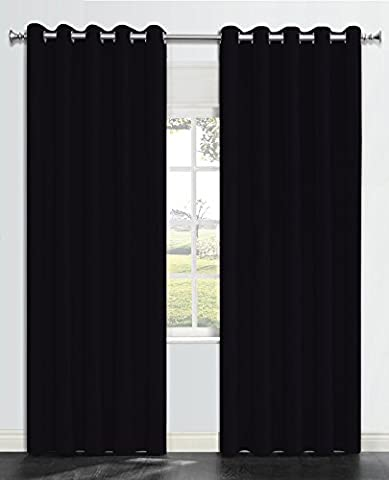 OnlyYou Verdunkelungsvorhang, 2 Stück, 168 x 229 cm - Schwarz