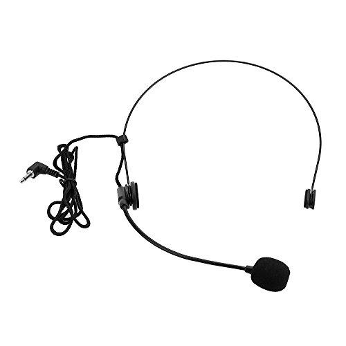 Andoer® Unidireccional Micrófono Montado en la Cabeza Auricular Diad