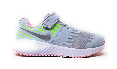 Nike Mädchen Star Runner (PSV) Leichtathletikschuhe, Mehrfarbig (Pure Platinum/Metallic Silver/Lime Blast 005), 29.5 EU -