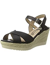 XTI Black Pu Ladies Sandals . - Plataforma Mujer