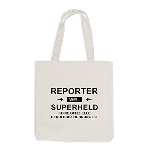 Borsa Di Juta - Reporter Supereroe - Eroe Professione Beige
