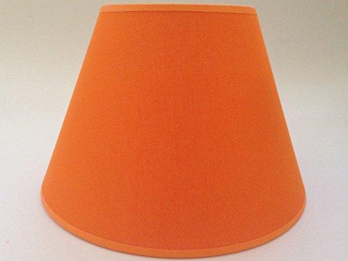 25,4 cm Orange Cône Tissu de coton Abat-jour lumière Abat-jour Table faite à la main.