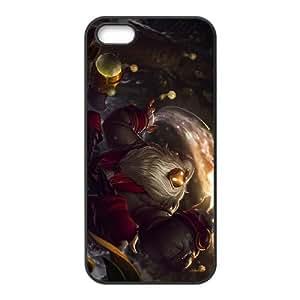 League Of Legends Bard 0 Coque iPhone 5 cas de téléphone portable 5S Coque noire Y5E3KT8O Effacer Coque étui de téléphone cellulaire unique