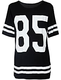 Ularma 2016 Moda camiseta de manga corta de mujeres béisbol, suelta camisero Mini