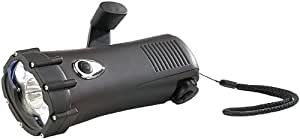 Lunartec Dynamolampe: Wasserdichte Dynamo-Taschenlampe mit 3 LEDs, 1,3 W, 2x 6 lm + 50 lm (Kurbeltaschenlampen)