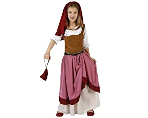 Atosa-96557 Disfraz Mesonera, color marrón, 7 a 9 años (96557)