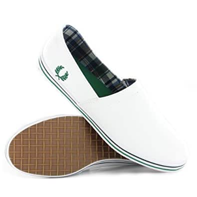 Fred Perry Kingston Stamp Down Twin White Mens Trainers Size 45 EU