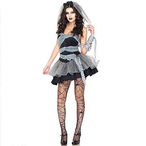 Shisky Halloween kostüm Damen, Dunklen Geist Braut Hexe Cosplay Kostüm Zombie Outfit Vampir Zombie Outfit ()