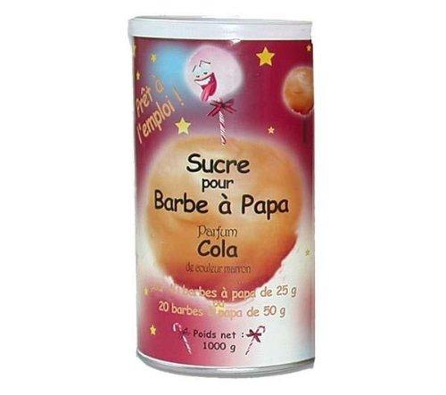 Preisvergleich Produktbild LAGRANGE Zucker für Zuckerwatte mit Colageschmack 380005 - 1 kg Für alle Zuckerwatte-Maschinen