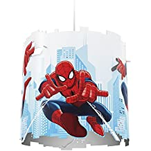 Philips Marvel Spiderman - Pantalla para lámpara colgante, bombilla no incluida, color blanco