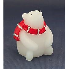 LED de oso polar 9,5cm NUEVO Vela de cera decorativa vela