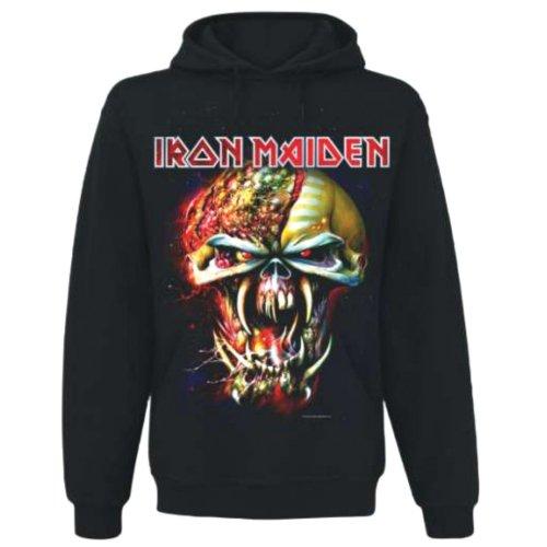 Collectors Mine Herren Sweatshirt Iron Maiden-Final Frontier, Schwarz (Schwarz), S -