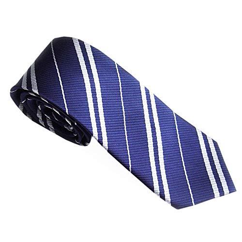 Xmiral Krawatten Herren Gestreifter Druck Krawatten Silk Business Suit Jacquard Woven(Blau)