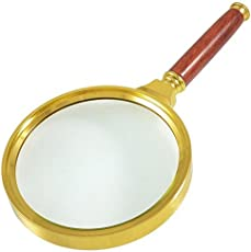 Banggood Detachable Handle 90mm Dia Hand Lens Magnifying Glass Magnifier 10X